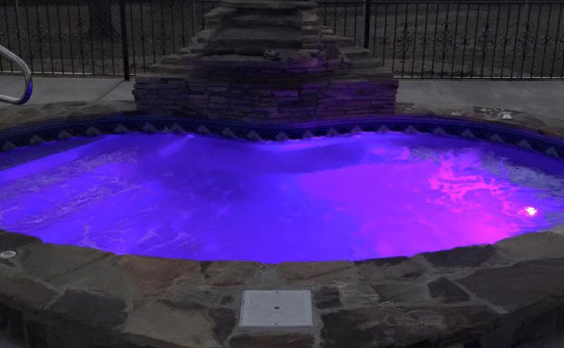 Night Lighted Spa Purple