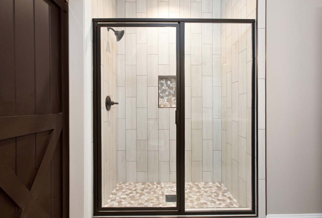 Shower With Stone